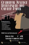 Poster for Criminal Justice career panel