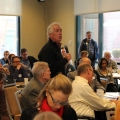 Photo of attendee asking question