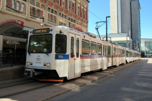 Photo of Denver light rail train