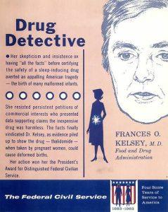 Poster honoring Frances Oldham Kelsey