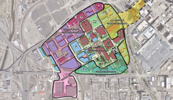 Map of Auraria campus