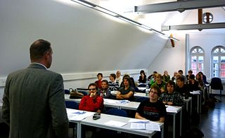 Photo of classroom lecture