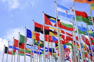 Photo of flags from different countries