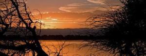 Photo of sunset at Barr Lake