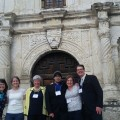 Photo of PhD students at Alamo