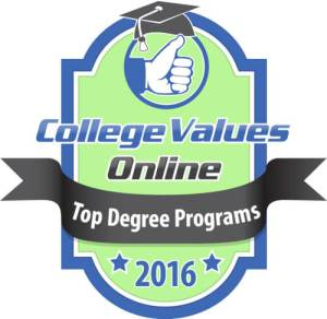 Badge for College Values Online