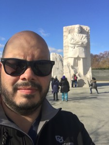 Photo of John Ronquillo at MLK Memorial