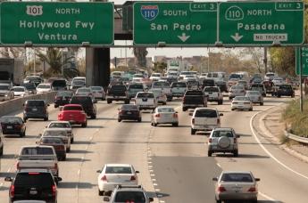 Photo of traffic on freeway