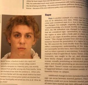 Brock Turner in textbook