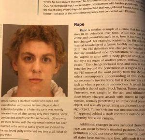 Brock Turner in textbook