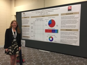Katie Jensen and poster